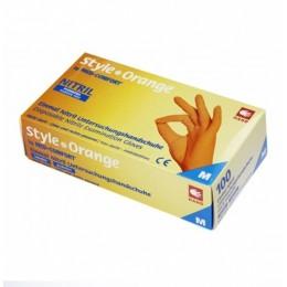 Перчатки нитриловые без пудры Ampri Style color Orange 01188-S