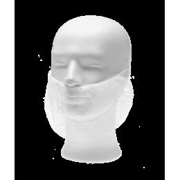 Набородник одноразовый из спанбонда, белый, (100 шт/упак), 21181