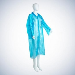 Халат ПЭ одноразовый, цвет голубой 05030-B