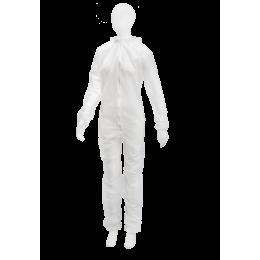 Комбинезон на молнии, белый, 05164-W-XXL