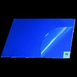 Липкий многослойный антимикробный коврик 90x115 см, синий