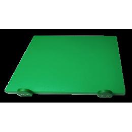 Доска разделочная Euroceppi с ограничителями 500х400х20 мм зеленая