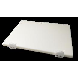 Доска разделочная Euroceppi с ограничителями 500х400х20 мм белая