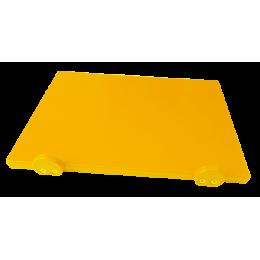 Доска разделочная Euroceppi с ограничителями 500х400х20 мм желтая