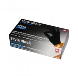 Перчатки нитриловые без пудры Ampri Style color Black 01181-L